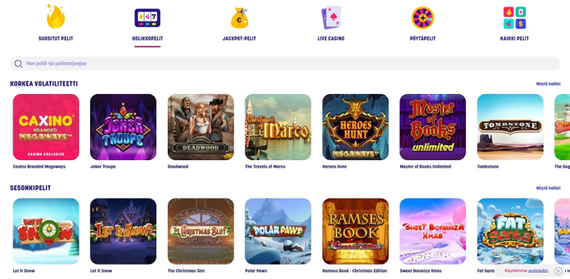 Online casino video slot games
